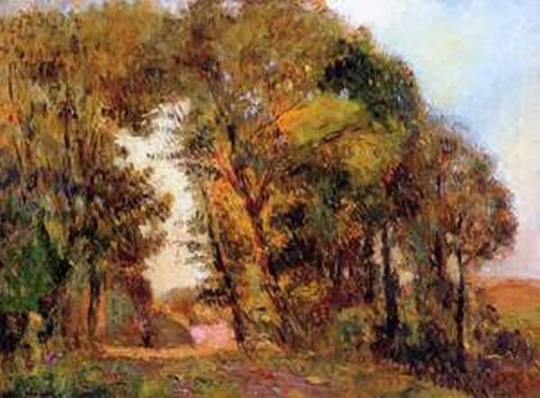 The Forest in Autumn near Rouen Date unknown